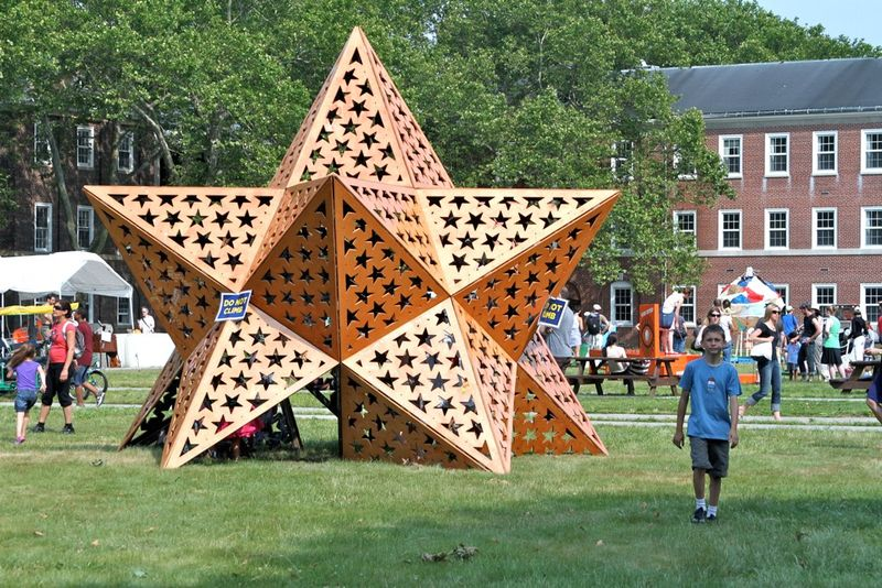 The Temple of Wonder by Jen Upchurch, Bryan Cates, and Douglas Hart, on Governors Island until October 3, 2010 (Image (c) 2010 Limelike)